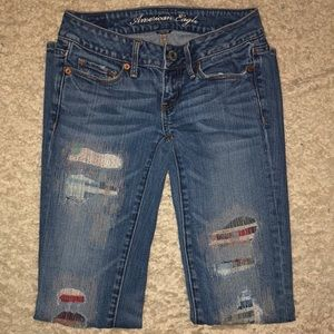American Eagle Distressed Jeans Skinny Rare